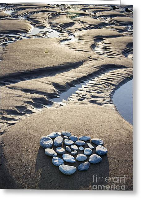 True Love Greeting Cards - Pebble Beach Heart Greeting Card by Tim Gainey