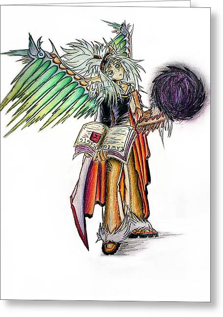 Fractal Art Greeting Cards - Pelusis God of Law and Order Greeting Card by Shawn Dall