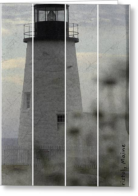 Coastal Maine Greeting Cards - Pemaquid Lighthouse Greeting Card by Chad Tracy