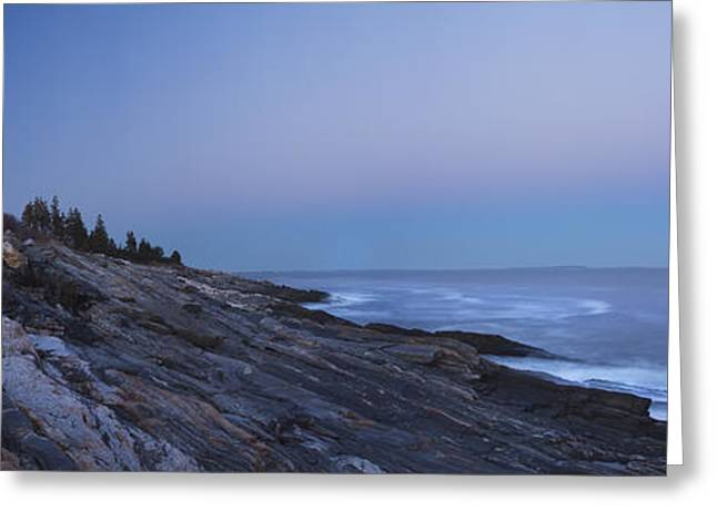 Maine Lighthouses Greeting Cards - Pemaquid Point Lighthouse on the Maine Coast Greeting Card by Keith Webber Jr