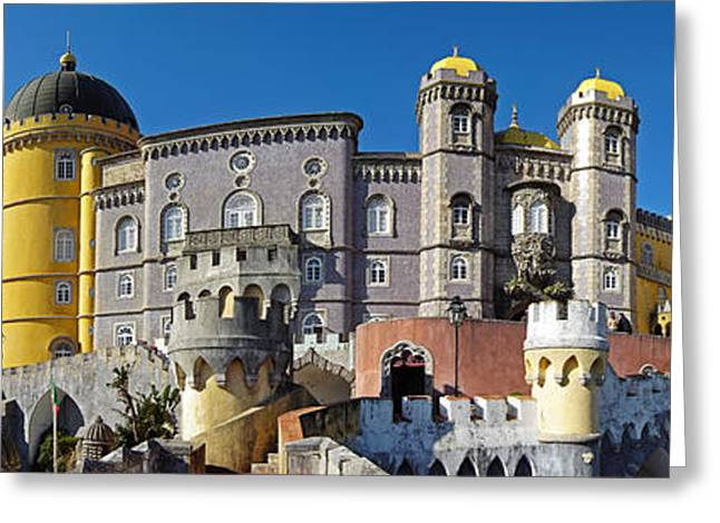 Pena Greeting Cards - Pena National Palace Greeting Card by Jose Elias - Sofia Pereira