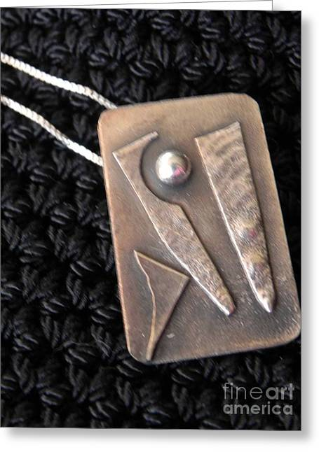 Abstract Jewelry Greeting Cards - Pendant Greeting Card by Patricia  Tierney