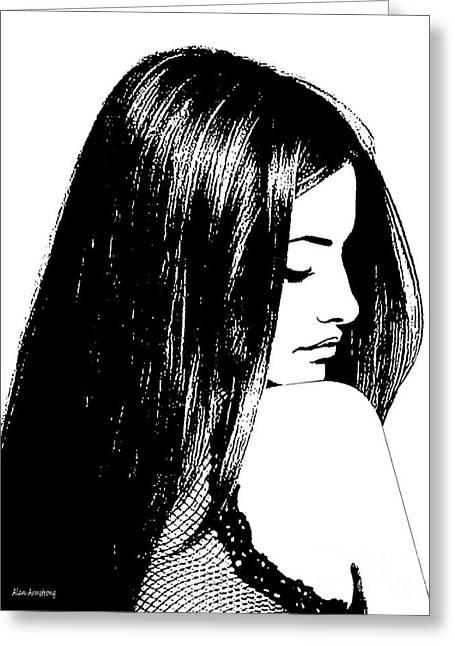 Penelope Cruz Greeting Cards - #1 Penelope Cruz Greeting Card by Alan Armstrong
