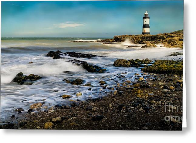 Anglesey Greeting Cards - Penmon Lighthouse Greeting Card by Adrian Evans
