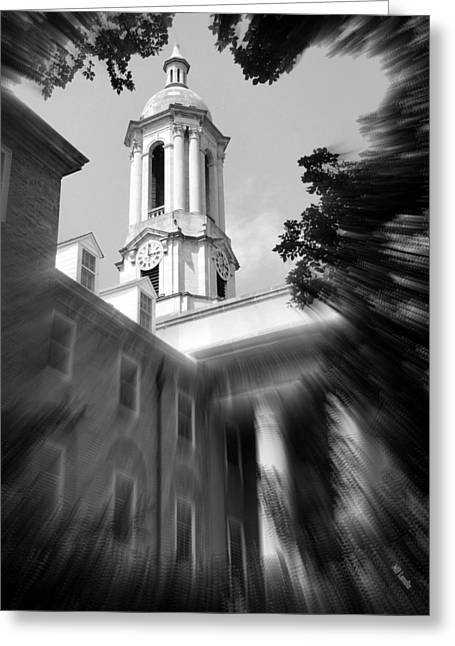 Lions Greeting Cards - Penn State Old Main Greeting Card by Mary Beth Landis