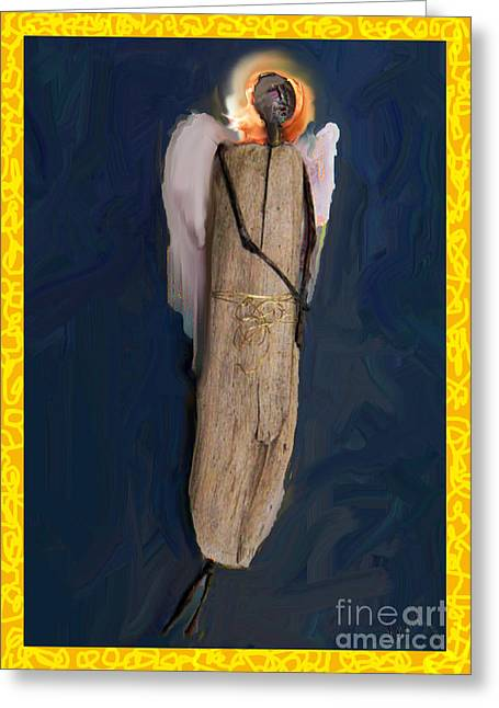 Spiritual Sculptures Greeting Cards - Penny Angel Greeting Card by Cecily Mitchell