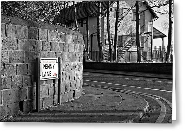 Penny Lane Greeting Cards - Penny Lane Liverpool UK Greeting Card by Ken Biggs