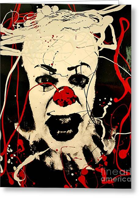 Pennywise The Clown Greeting Cards - Pennywise The Dancing Clown Greeting Card by Michael Kulick