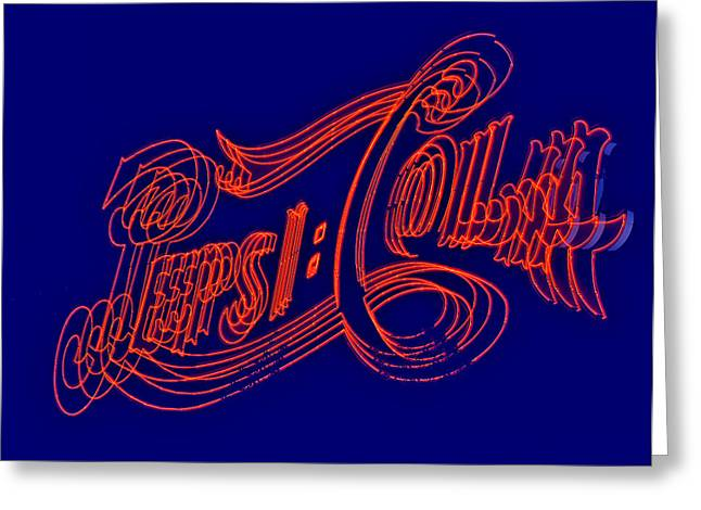 Pepsi Cola Greeting Card by Susan Candelario