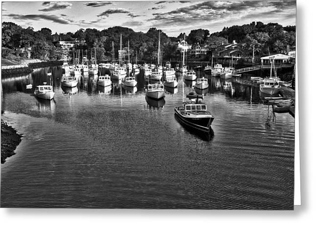 Cape Neddick Greeting Cards - Perkins Cove - Maine Greeting Card by Steven Ralser
