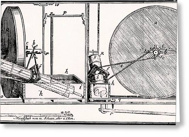 Perpetual Motion Machine Greeting Card by Universal History Archive/uig