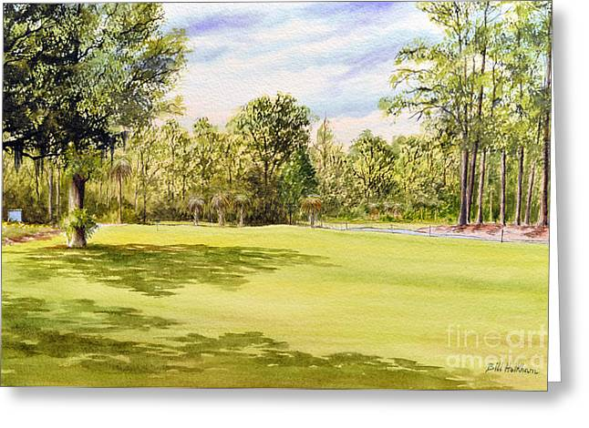 Wiggins Greeting Cards - Perry Golf Course Florida Greeting Card by Bill Holkham