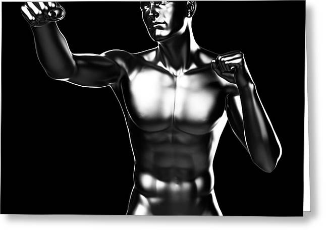 Person Boxing Greeting Card by Sebastian Kaulitzki
