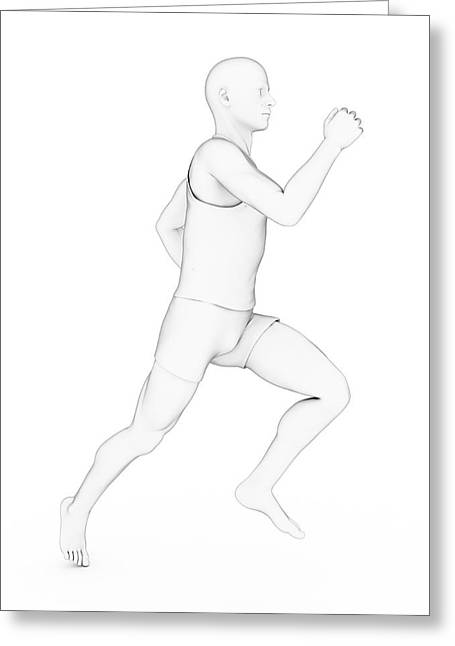 Person Jogging Greeting Card by Sebastian Kaulitzki