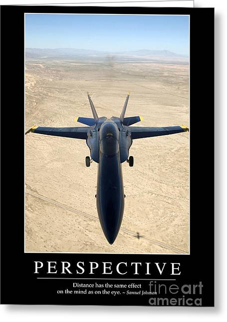 Perspective Inspirational Quote Greeting Card by Stocktrek Images