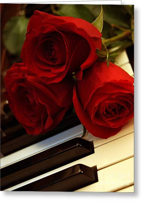 Diane Reed Greeting Cards - Petals and Keys Greeting Card by Diane Reed