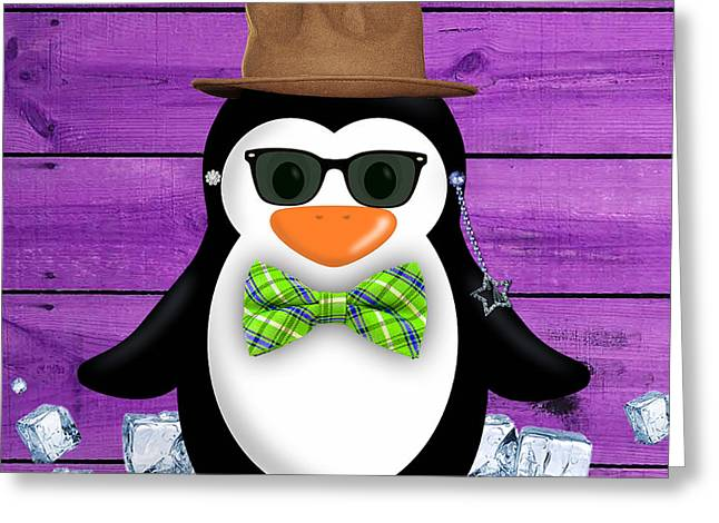 Peter Penguin Collection Greeting Card by Marvin Blaine