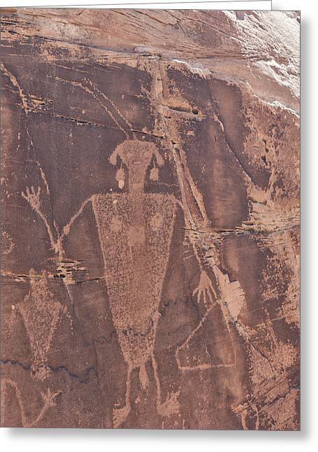 Freemont Greeting Cards - Petroglyph Greeting Card by Melany Sarafis