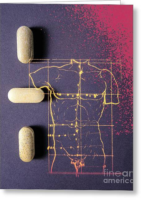 Medication Greeting Cards - Pharmaceutical Therapy Greeting Card by Dennis D. Potokar