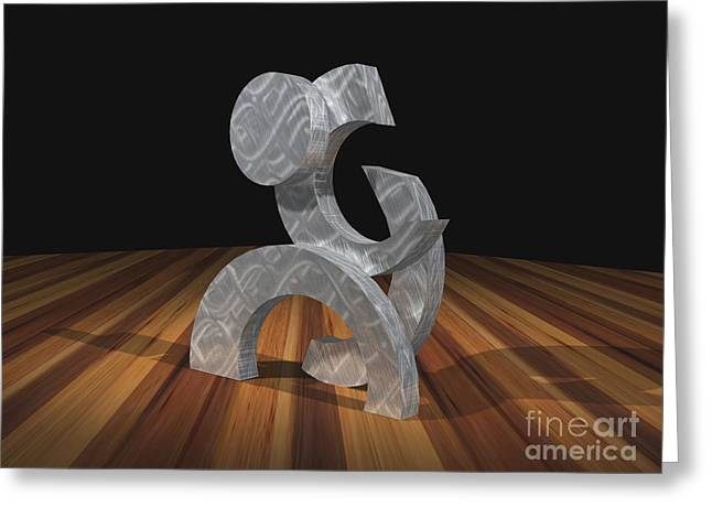 Pieces Sculptures Greeting Cards - Phases Greeting Card by Peter Piatt