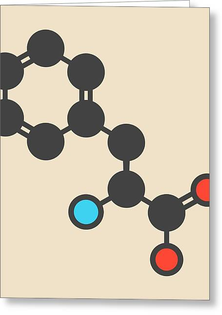 Phenylalanine Amino Acid Molecule Greeting Card by Molekuul
