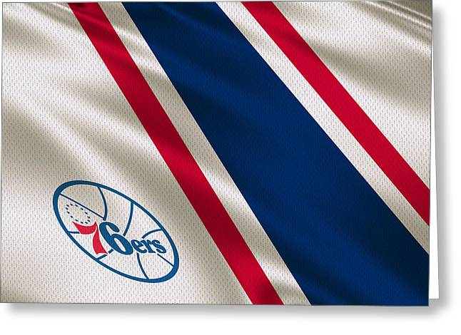 76ers Greeting Cards - Philadelphia 76ers Uniform Greeting Card by Joe Hamilton