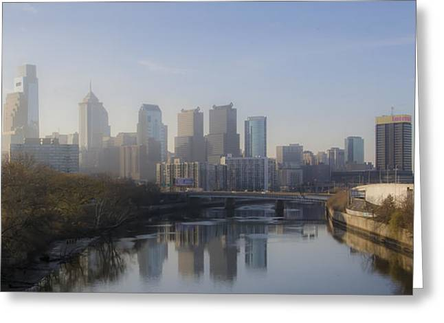 Philadelphia Digital Art Greeting Cards - Philadelphia Cityscape in the Morning Greeting Card by Bill Cannon