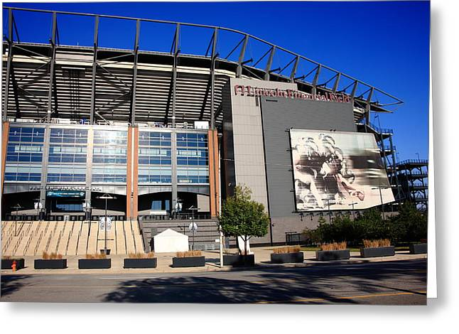 Phillies Framed Prints Greeting Cards - Philadelphia Eagles - Lincoln Financial Field Greeting Card by Frank Romeo