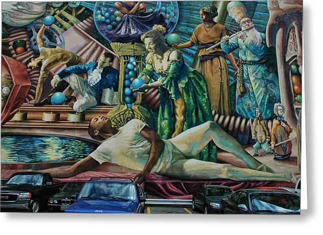 Finr Art Greeting Cards - Philadelphia Mural 2 Greeting Card by Allen Beatty