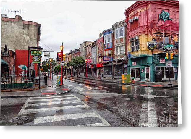 South Street Greeting Cards - Philadelphia South Street 4 Greeting Card by Jack Paolini