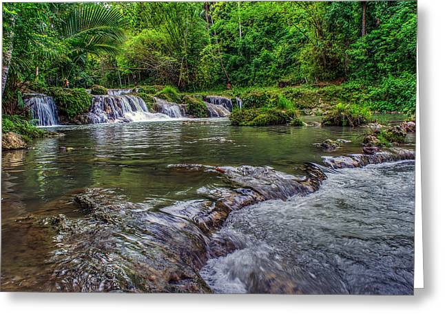 Hdr Landscape Greeting Cards - Philippines Siquijor Island Greeting Card by Lik Batonboot