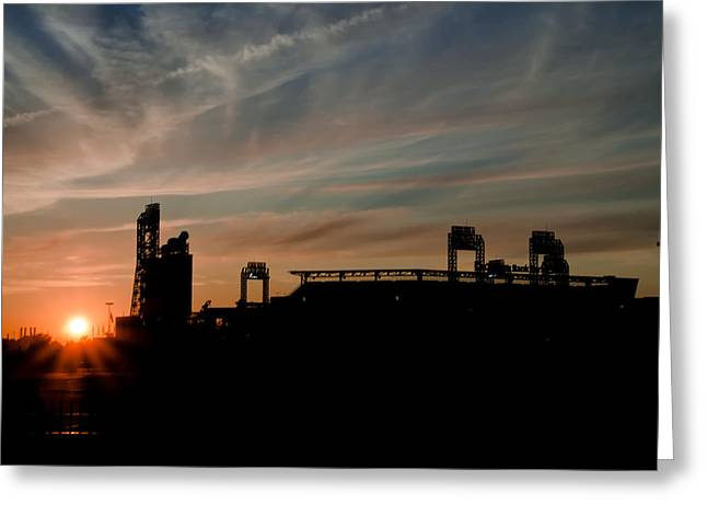 Philadelphia Phillies Stadium Digital Greeting Cards - Phillies Stadium at Dawn Greeting Card by Bill Cannon