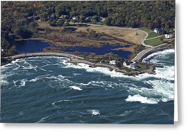 York Beach Greeting Cards - Phillips Cove, York Greeting Card by Dave Cleaveland