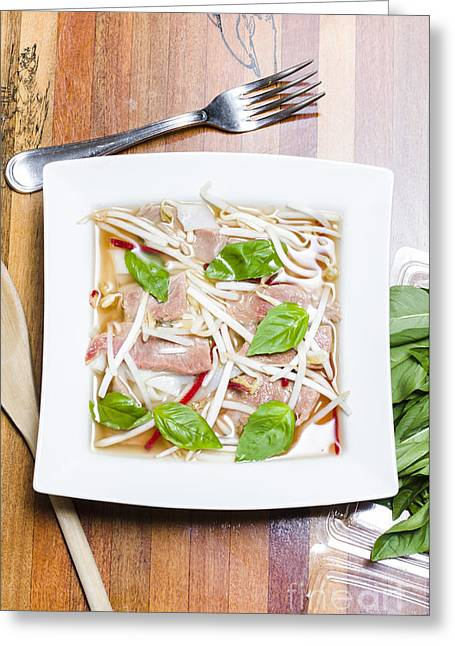 Supper Bowl Greeting Cards - Pho Vietnamese rice noodle soup Greeting Card by Ryan Jorgensen