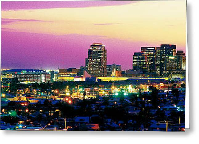 Phoenix Architecture Greeting Cards - Phoenix Az Greeting Card by Panoramic Images