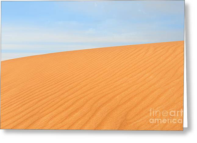 Sand Pattern Greeting Cards - Photo of sand dune in the desert of United Arab Emirates Greeting Card by Mikhail Golovastikov