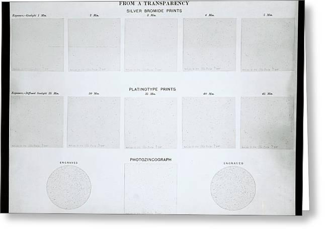 Photochart Of Polar Stars Greeting Card by Royal Astronomical Society