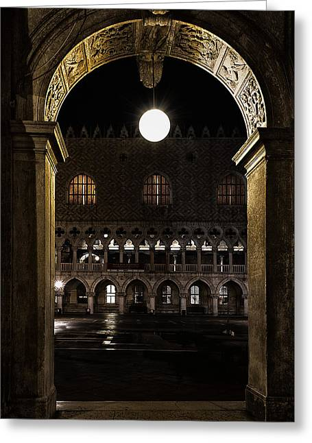 Palace Ducal Greeting Cards - Piazza San Marco Greeting Card by Marion Galt