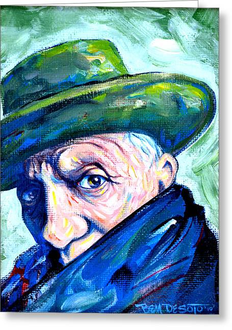 Pablo Greeting Cards - Picasso Greeting Card by Ben De Soto
