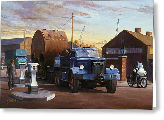 Factory Greeting Cards - Pickfords Diamond T Greeting Card by Mike  Jeffries