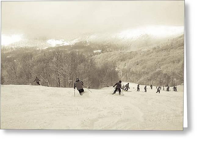 Powder Greeting Cards - Pico Ski Resort 7 Greeting Card by Patsy Zedar