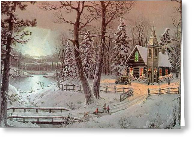 New Year Greeting Cards - Picture Christmas Greeting Card by Victor Gladkiy