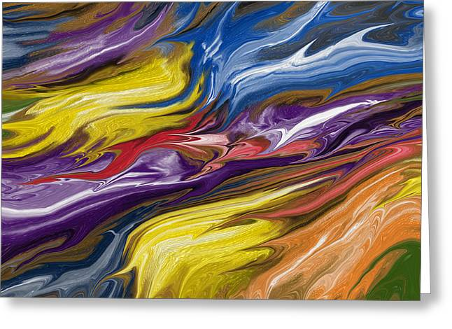 Abstract Digital Greeting Cards - Pieces Greeting Card by Judi Walters