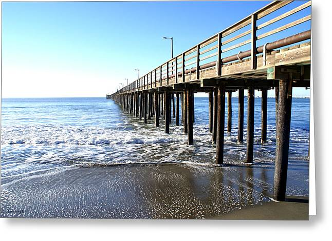 Barbara Snyder Greeting Cards - Pier At Avila Beach California Greeting Card by Barbara Snyder