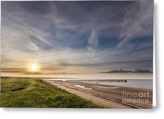 Hartlepool Greeting Cards - Pier Sunset Greeting Card by Bahadir Yeniceri