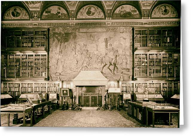 Valuable Photo Greeting Cards - Pierpont Morgan Library - NYC 1963 Greeting Card by Mountain Dreams