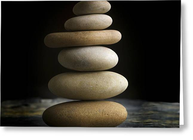 Stack Greeting Cards - Pile of stones. Greeting Card by Bernard Jaubert