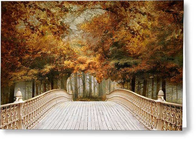 Bridge Greeting Cards - Pine Bank Arch Greeting Card by Jessica Jenney