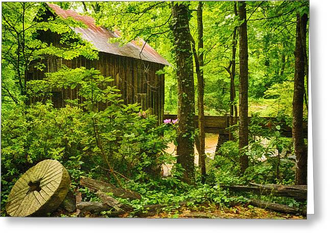 Pine Run Grist Mill Greeting Card by Priscilla Burgers