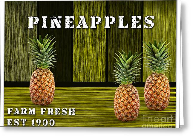 Pineapple Greeting Cards - Pineapple Farm Greeting Card by Marvin Blaine